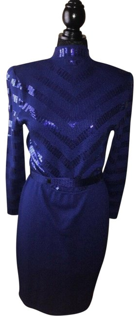 Item - Blue By Marie Gray - Evening Mid-length Cocktail Dress Size 8 (M)