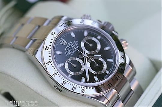 Rolex Rolex Daytona 116520 Stainless Box Papers Black Dial Newest Model Scrambled