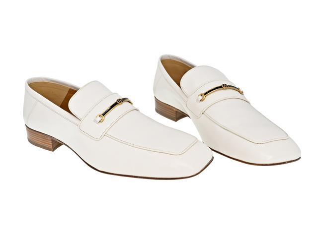 Item - Mystic White Horsebit Men's Leather Loafer with and Double G Formal Shoes Size US 11 Regular (M, B)