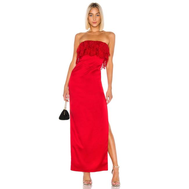 Item - Red Sylvia Gown In Flame Scarlet Long Formal Dress Size 8 (M)