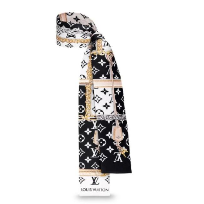 Item - Black Sold Out Multicolor Confidential Lv Logo Bandeau Scarf/Wrap