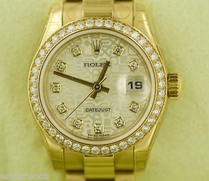 Rolex Rolex President Ladies 18k Gold Watch Crown Collection
