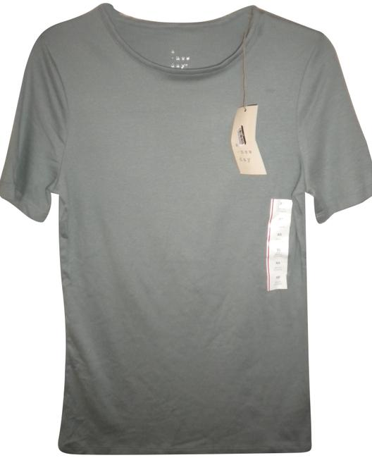 Item - Turquoise (Soft Blue) XS Sleeve Fitted Women T-shirt Tee Shirt Size 0 (XS)