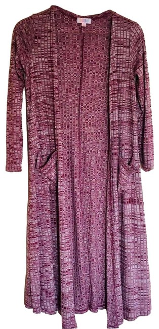 Item - Red / Sarah Duster Ribbed Heathered Cardigan Size 2 (XS)