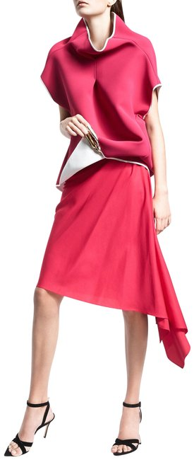 Item - Pink Examine Assymetric Crepe Skirt Size 6 (S, 28)