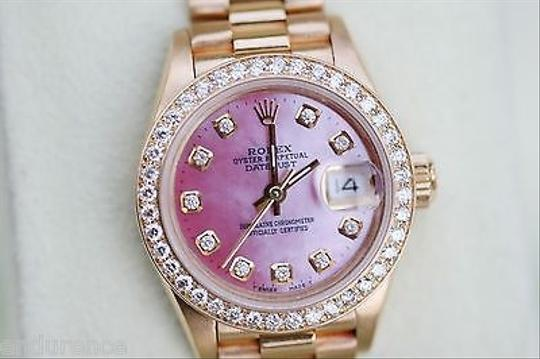 Preload https://item4.tradesy.com/images/rolex-rolex-president-ladies-womens-18k-gold-watch-diamonds-pink-mother-of-pearl-69178-2906158-0-0.jpg?width=440&height=440