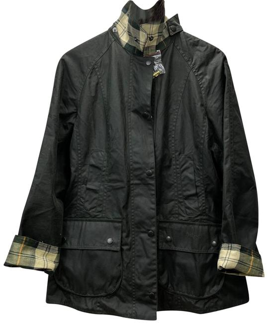 Item - Green Beadnell Waxed Jacket Size 8 (M)