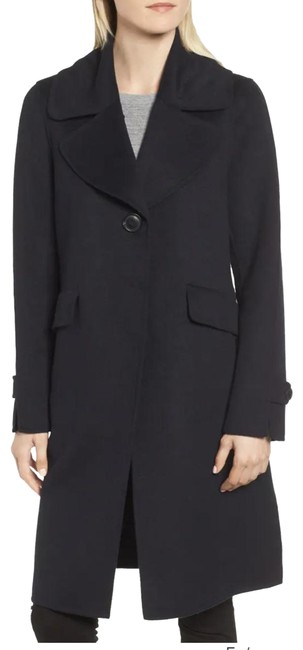 Item - Navy Wool Blend Reefer Coat Size 8 (M)