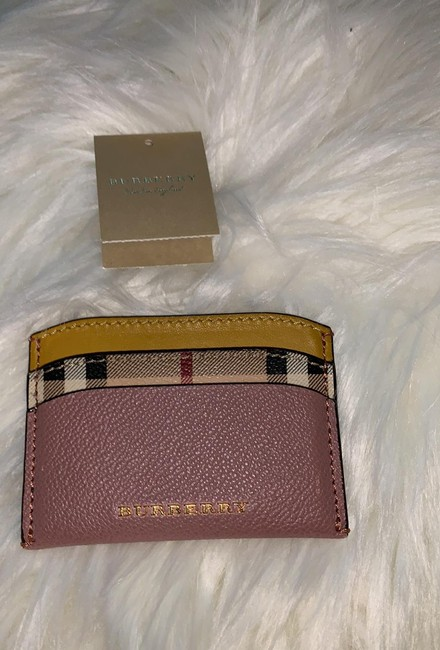 Item - Pink and Yellow and Checkered Card Case Wallet
