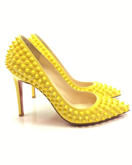 Item - Yellow Pigalle Spikes 100 Patent Leather Pumps Size EU 37.5 (Approx. US 7.5) Regular (M, B)