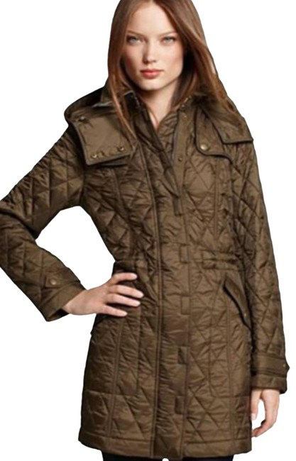 Item - Military Green Brit Dancourt Quilted Puffer Trench Coat Size 6 (S)