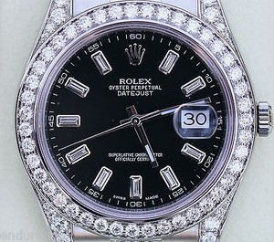 Rolex Rolex Datejust Ii 41mm Black Diamond Dial 116300 Diamond Diamonds Diamonds