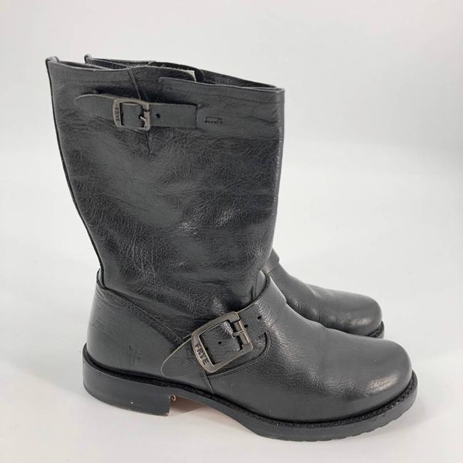 Item - Black Veronica Shortie Leather Boots/Booties Size US 7.5 Regular (M, B)