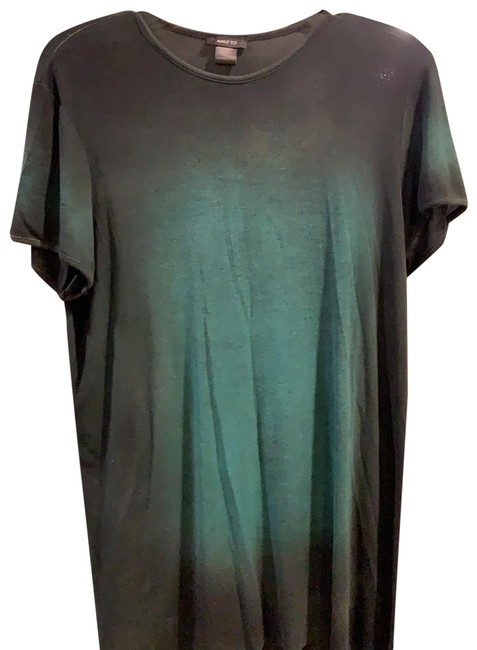 Item - Green To Black Ombre Model Tunic Size 8 (M)