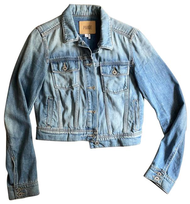 Item - Faded Blue Vivienne Relaxed Cropped Jacket Size 2 (XS)