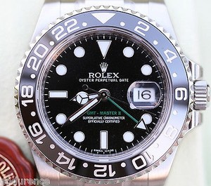 Rolex Rolex 2015 Rolex Gmt Master Ii Stainless Steel Black On Black Watch