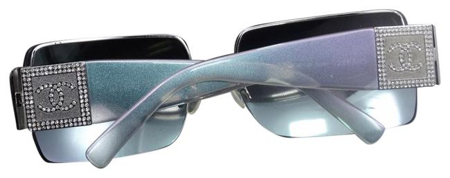 Item - Iridescent Purple Blue Pearl Crystal C C Logo Retired 4095 Made In Italy Sunglasses