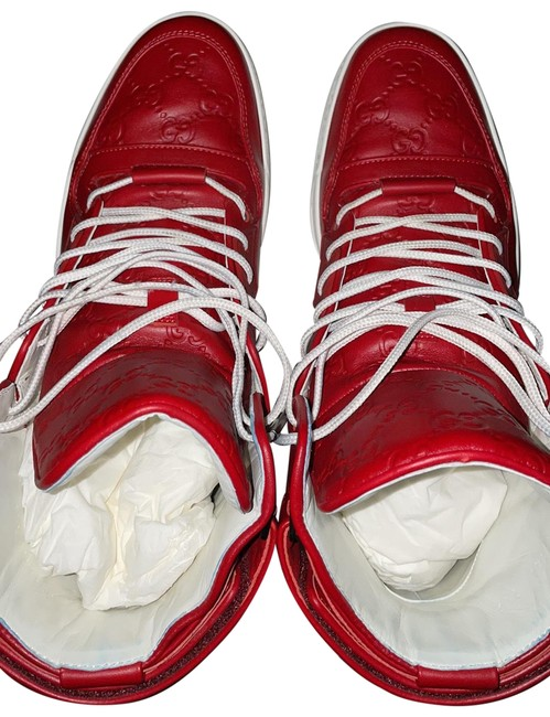 Item - Red Leather Calf Sneakers Size US 7.5 Regular (M, B)