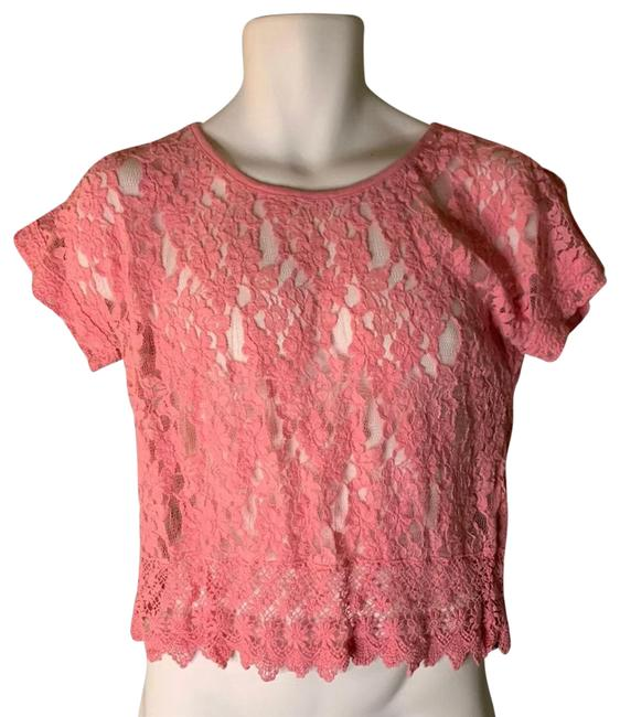 Item - Pink Lace Blouse Size 8 (M)