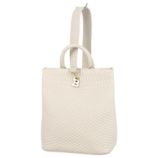 Item - 2way Quilted Tote Ladies White Leather Shoulder Bag
