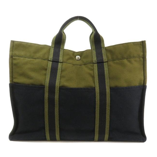 Item - Bag Sack Fool To Mm Ladies Khaki / Navy Canvas Tote