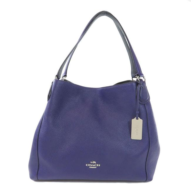 Item - Bag 36468 Logo Ladies Purple Leather Tote