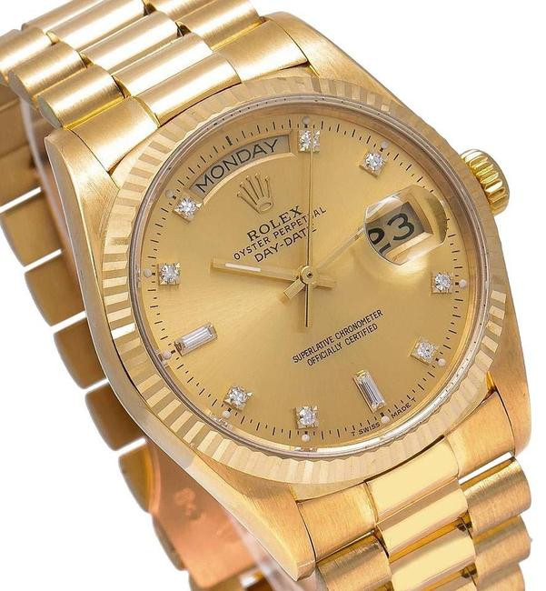 Item - Champagne Day-date 18038 36mm Dial with Yellow Gold Bracelet Wat Watch