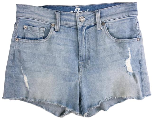 Item - Blue High Rise Distressed Stretch Shorts Size 2 (XS, 26)