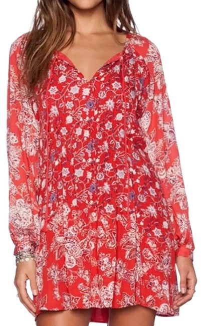 Item - Red Lucky Loosie Short Casual Dress Size 4 (S)