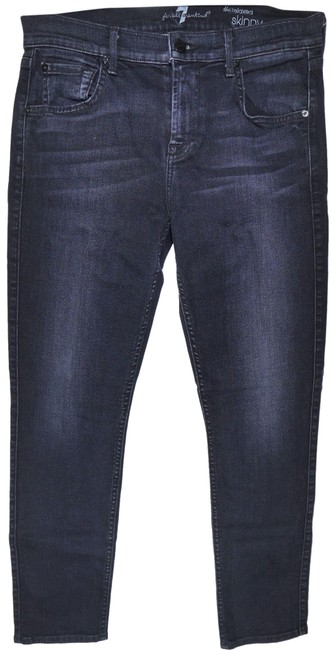 Item - Icy Black Slim Illusion The Relaxed Skinny Girlfriend Boyfriend Cut Jeans Size 26 (2, XS)