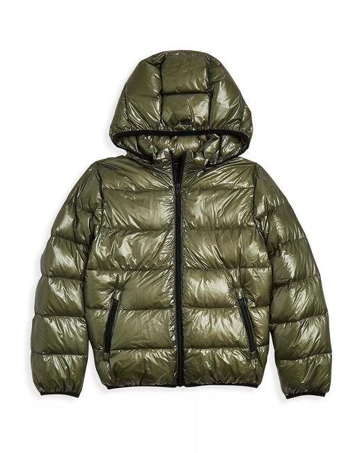 Item - Green Boys' Hooded Down Puffer Coat Size 12 (L)