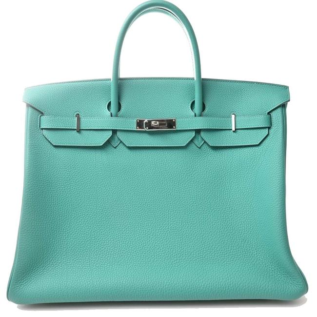 Item - Birkin 40 Handbag Green Togo Leather Satchel