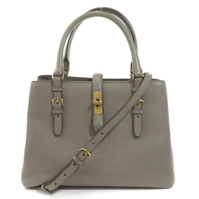Item - Bag Ladies Gray Leather Tote