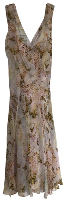 Diane von Furstenberg Light with Butterfly Print Summer Mid-length Short Casual Dress Size 2 (XS) Diane von Furstenberg Light with Butterfly Print Summer Mid-length Short Casual Dress Size 2 (XS) Image 1