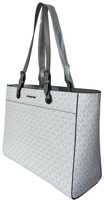 Item - Jst Commuter Large Tote & Trifold Wallet Bundle Bright White Leather Backpack