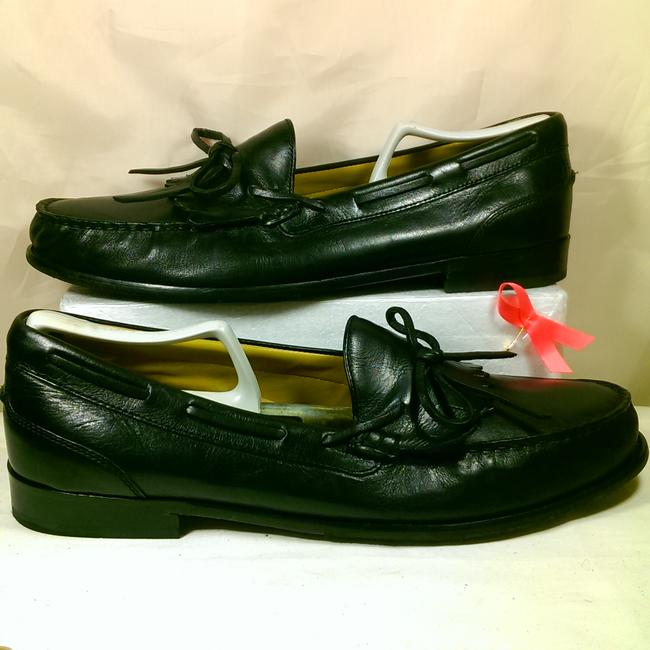 Item - Black Noir W/Tan Insides Men's Leather Kiltie Dress Casual Walking Loafer 11 Shoes