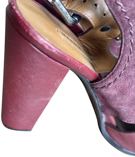 Item - Red Leather Sandal Platforms Size EU 38.5 (Approx. US 8.5) Narrow (Aa, N)