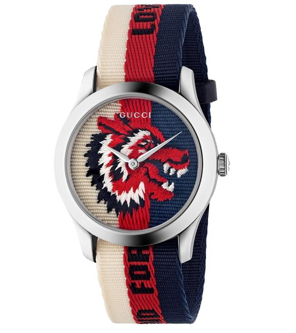 Item - Blue Red Stainless Steel Nylon 38mm Le Marche Des Merveilles Wolf Quartz Watch