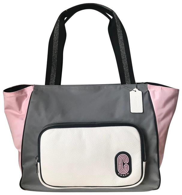 Item - 91157 Colorblock Nylon Leather Court Tote
