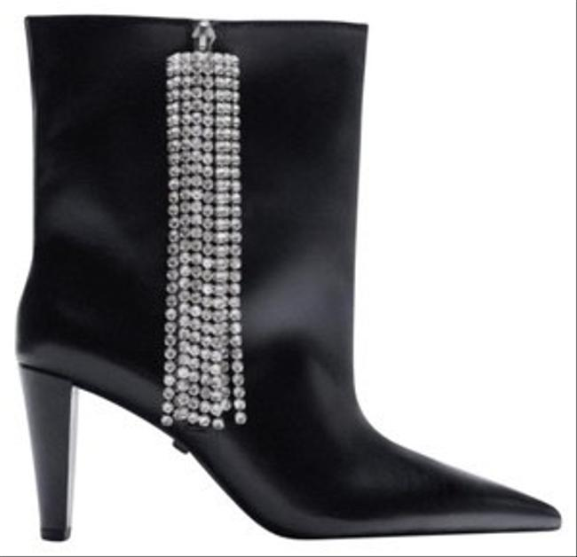 Item - Black New Leather Ankle with Sparkly Fringe 39 1145/610 Boots/Booties Size US 8 Regular (M, B)