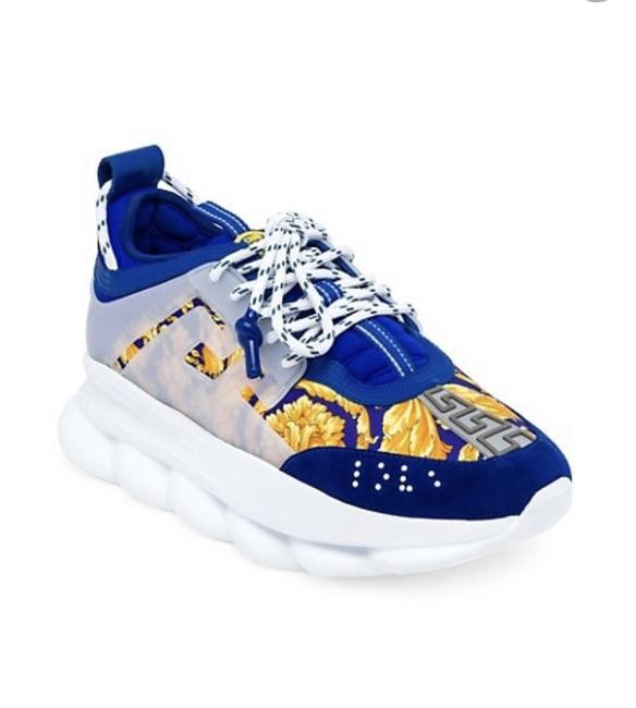 Item - Blue Chain Reaction Sneakers Size US 8 Regular (M, B)