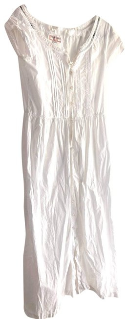 Item - White Boho Prairie 11 Casual Maxi Dress Size 12 (L)
