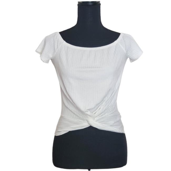Item - White The Crop Tee Shirt Size 2 (XS)