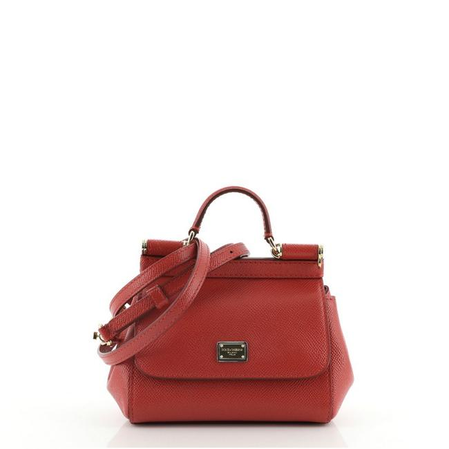 Item - Miss Sicily Mini Red Leather Cross Body Bag