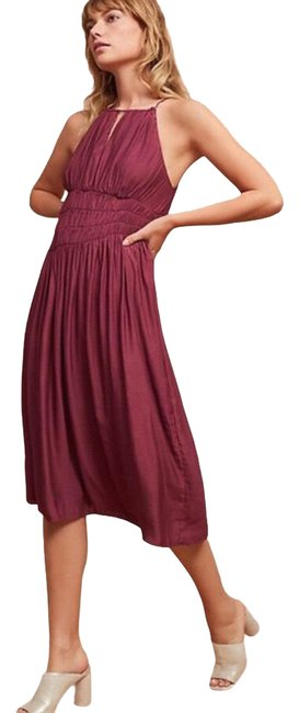 Item - Burgundy Moulinette Soeurs Mid-length Night Out Dress Size 2 (XS)