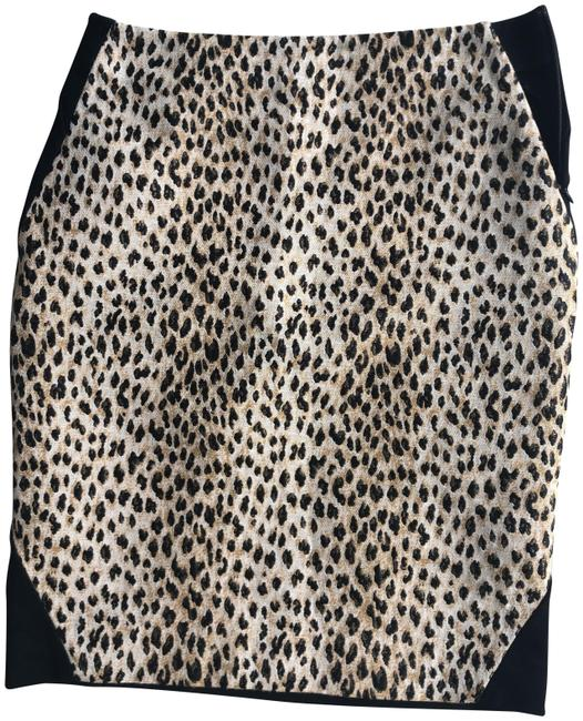 Item - Black Leopard Skirt Size 4 (S, 27)
