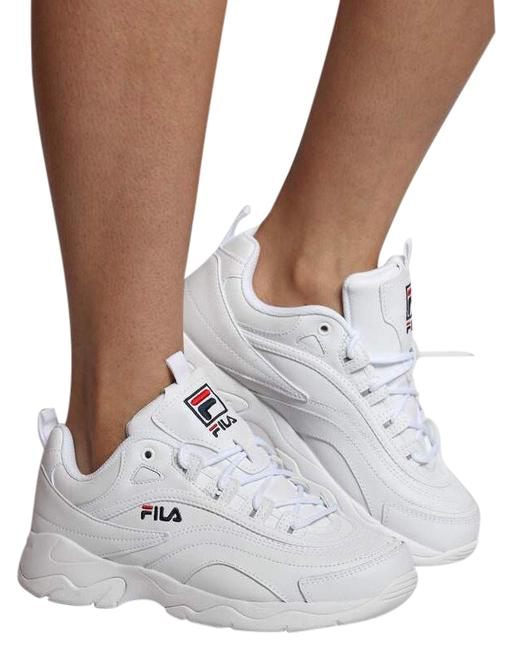 Item - White Women's Chunky Disarray Low Top Sneakers Size US 8 Regular (M, B)