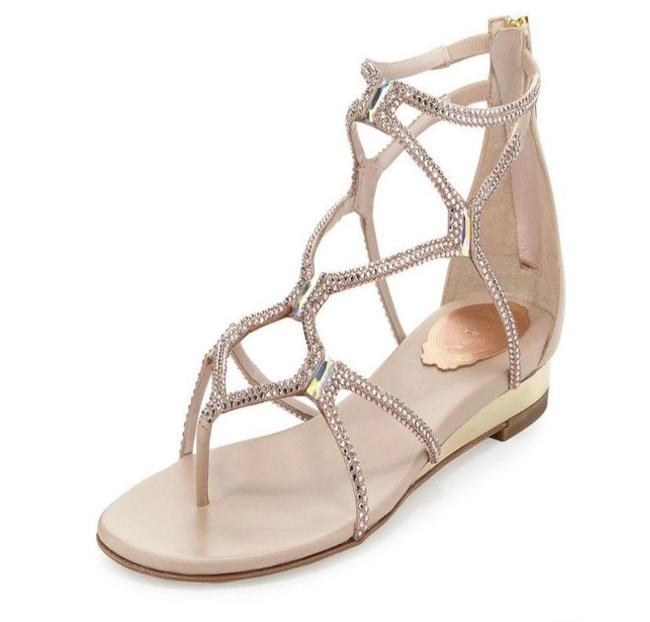 Item - Tan Crystal Gladiator Sandals Size EU 40 (Approx. US 10) Regular (M, B)
