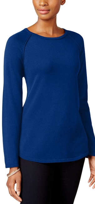 Item - Petite Relaxed Blue Sweater