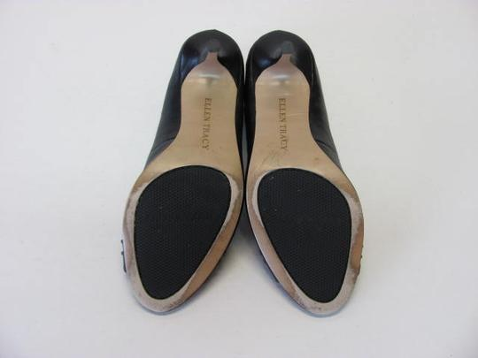 Ellen Tracy Very Good Condition Size 8.50m Leather black Pumps Image 4